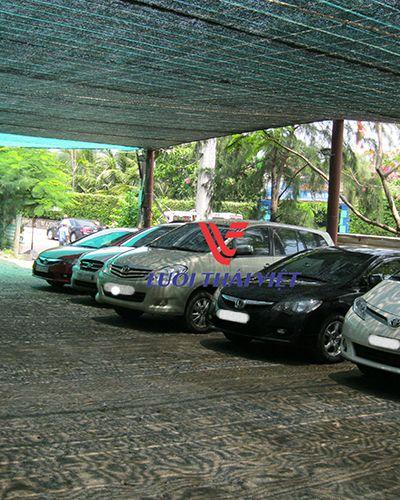 Lưới che nắng bãi đỗ xe